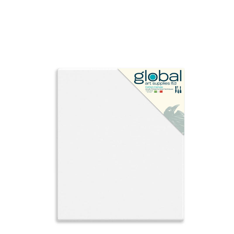 Global Art Supplies Cotton Canvas 30inch x 24inch Box of 4