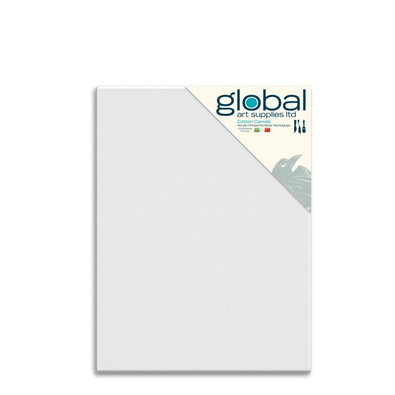 Global Art Supplies Cotton Canvas 36inch x 24inch Box of 4