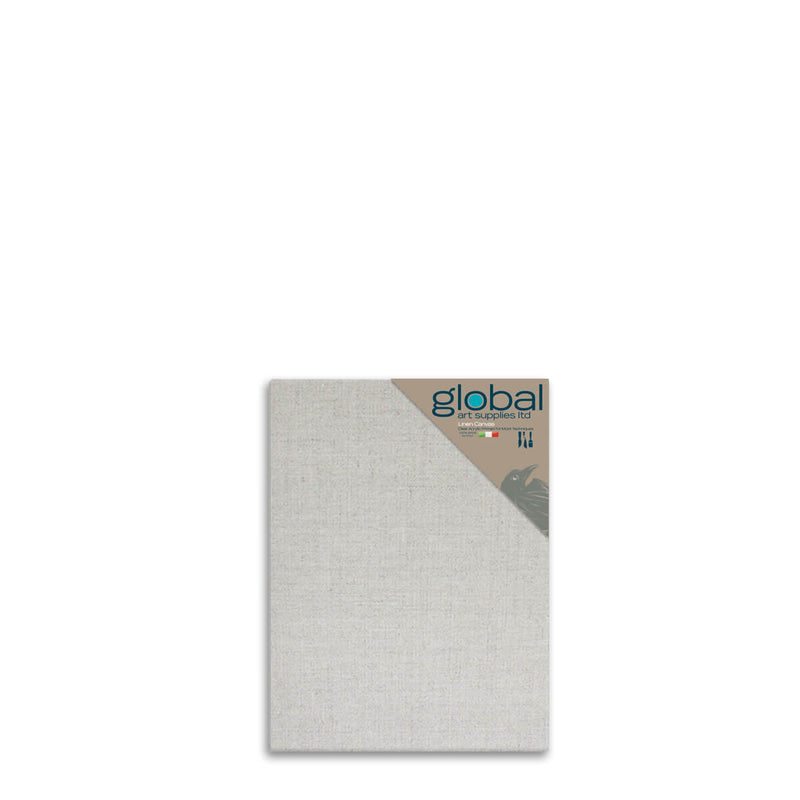 Global Art Supplies Linen Canvas Clear Gesso 12inch x 10inch Box of 4