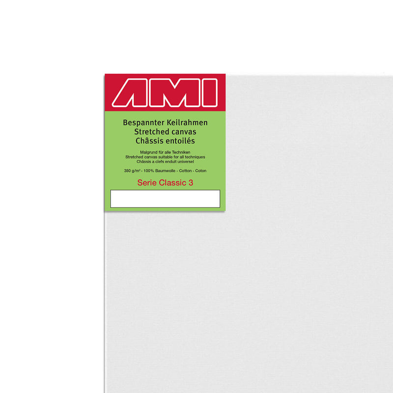 AMI Classic 3 Cotton Canvas Deep Edge 100cm x 80cm Box of 2
