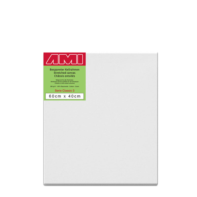 AMI Classic 3 Cotton Canvas Deep Edge 60cm x 40cm Box of 4