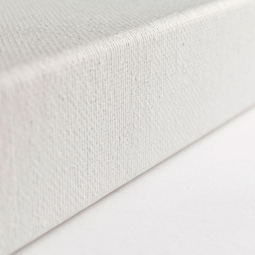 A close up of the side of a Loxley Ashgate Chunky Canvas that measures 8 by 8 inches and comes in a box of 10.