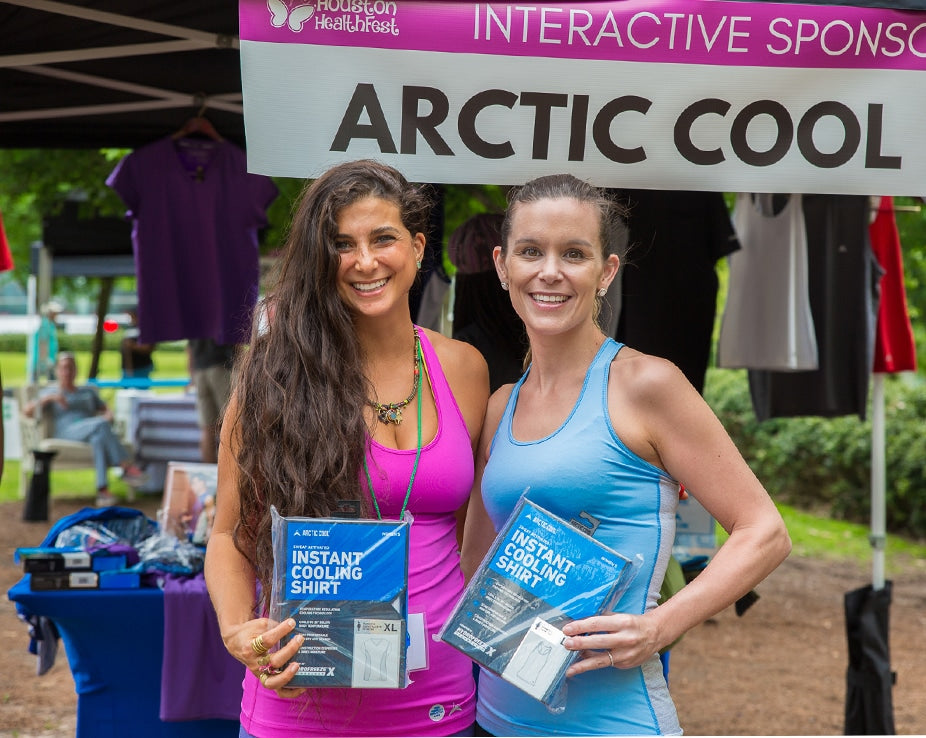 Arctic Cool Healthfest booth