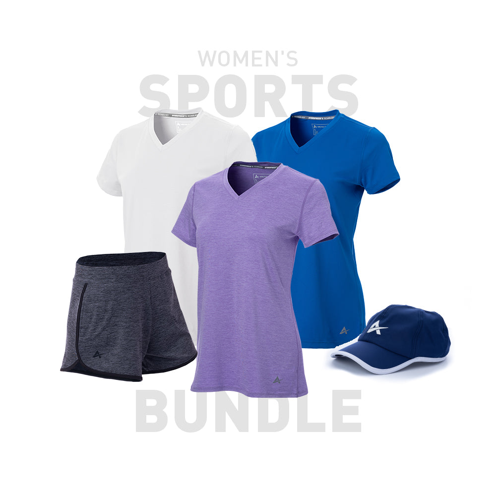 Women's Short Sleeve V-Neck Sport Bundle