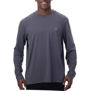 Men's Solid Crew Neck Long Sleeve