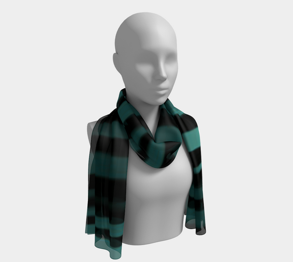 Vertical Ocean Stripes Scarf