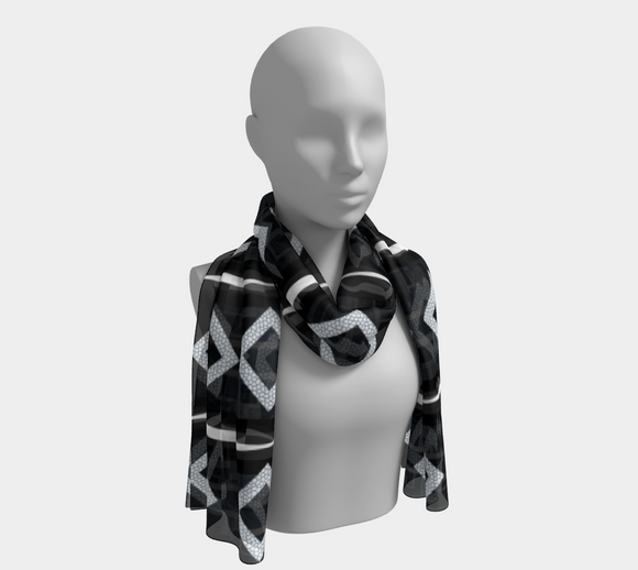 Vertical Striped Diamond Scarf