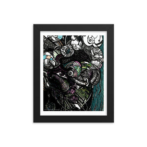 Raw Creature Framed poster