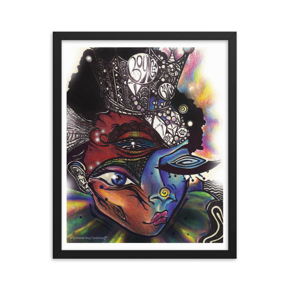 Cosmic Beauty Framed poster