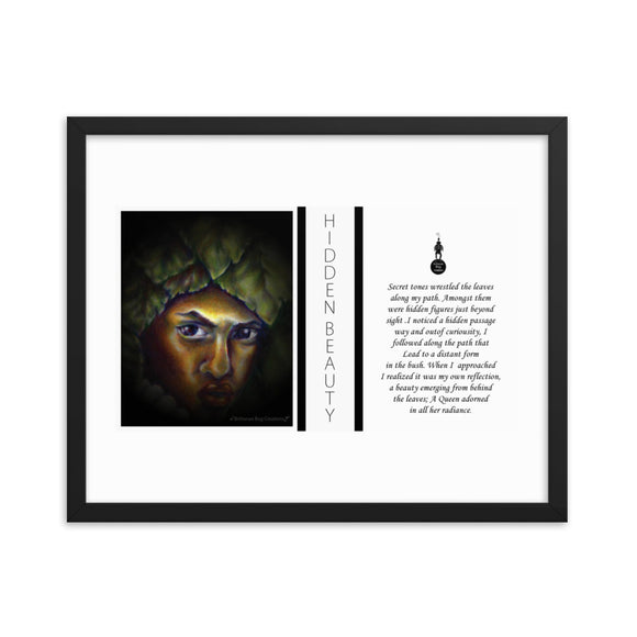 Hidden Beauty Poem Framed poster