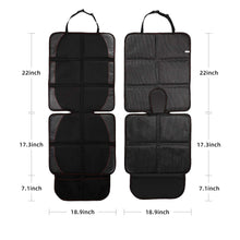 Load image into Gallery viewer, HOUSE DAY Car Seat Protector, 2 Pack Large Auto Car Child Baby Seat Protector with Thickest Padding and Non-Slip Backing Mesh Pockets, Vehicle Dog Cover Pad for SUV Sedan (Black Hem)