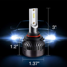 Load image into Gallery viewer, 9012 LED Headlight Bulbs9012 LED Headlight Bulbs Conversion Kit LED Light Bulb with Cooling Fan,12000LM 6500K Xenon White, Low Beam/Fog Light Bulb,Pack of 2