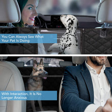 Load image into Gallery viewer, HOUSE DAY Dog Car Seat Cover Pet Seat Cover 900D with Mesh Viewing Window & Storage Pocket, Waterproof Non-Scratch Dog Car Hammock for Back Seat, Dog Car Seat Covers for Cars Trucks SUV