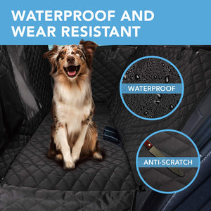HOUSE DAY Dog Car Seat Cover Pet Seat Cover 900D with Mesh Viewing Window & Storage Pocket, Waterproof Non-Scratch Dog Car Hammock for Back Seat, Dog Car Seat Covers for Cars Trucks SUV