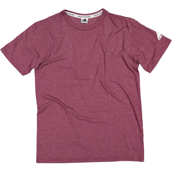 Mens Burgundy Blank T-Shirt