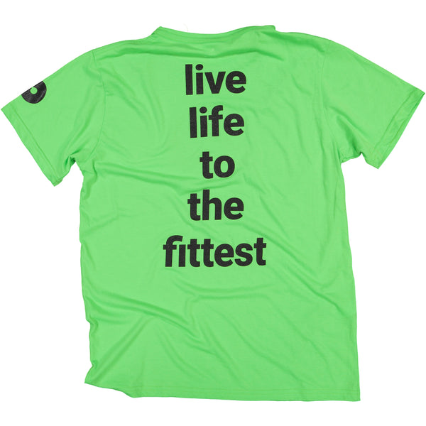Mens Lumo Green Live Life to the Fittest