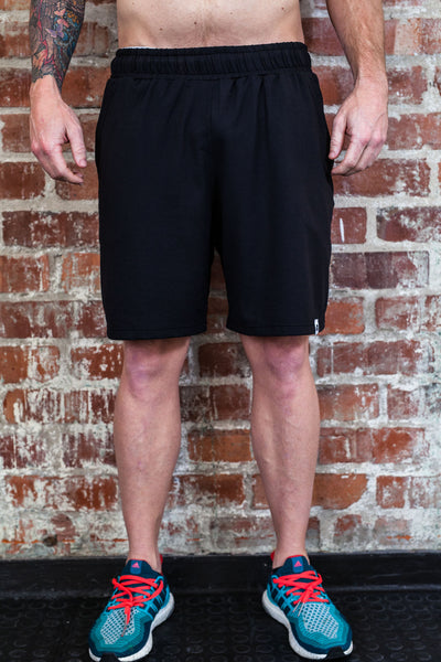 Mens Black Functional Shorts
