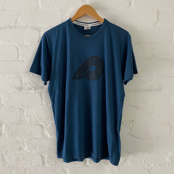 Men's Blue Logo Print