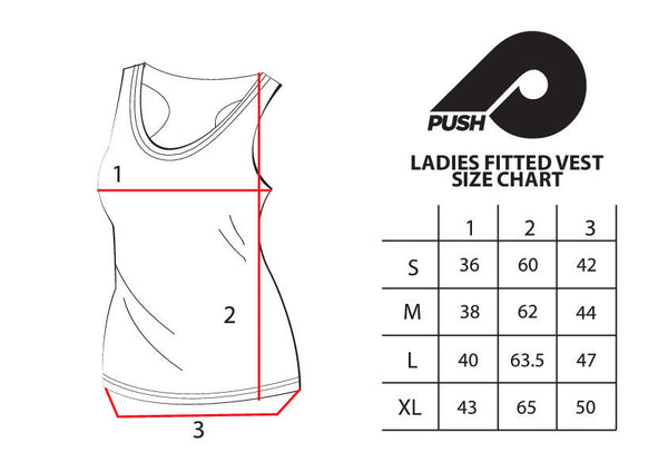 Ladies Black Fitted Vest