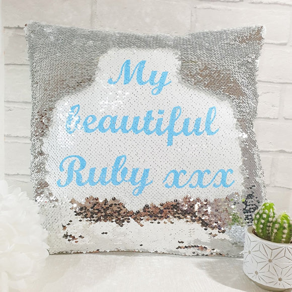 Sequin cushions