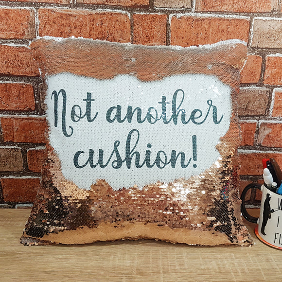 Rose Gold personalised magic reveal sequin cushion cover