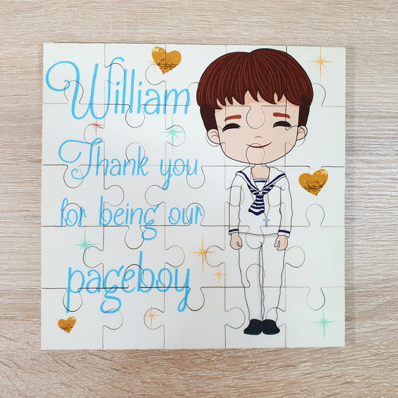 Personalised page boy jigsaw