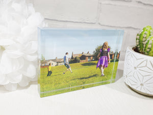 Glass crystal customised photo block