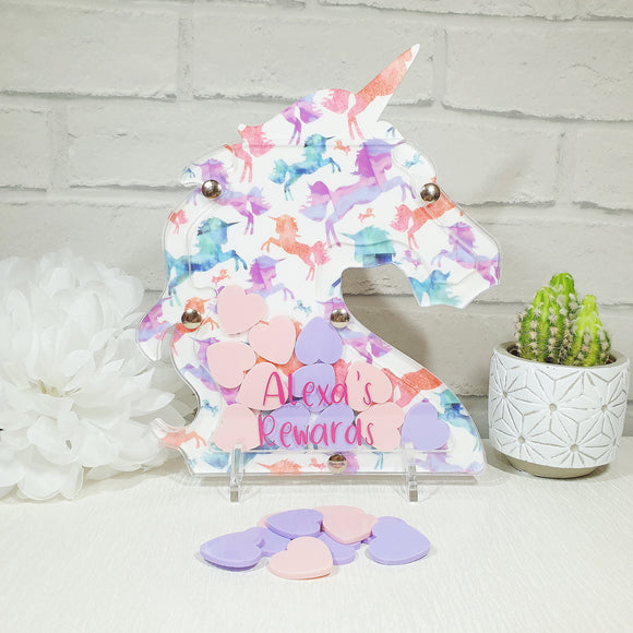 Rewards unicorn personalised money box