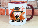 Witch unicorn personalised Halloween mug