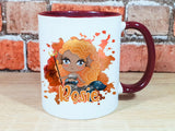 trident mermaid personalised Halloween mug in various colours