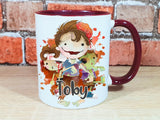 Zombie personalised Halloween mug in various colours