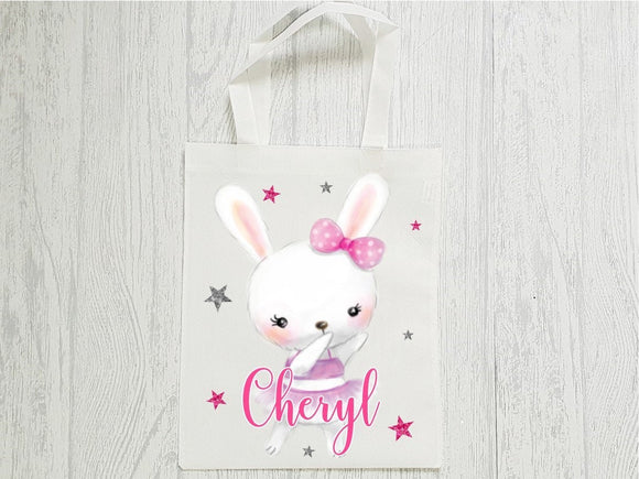 Dancing ballerina animals personalised tote bag