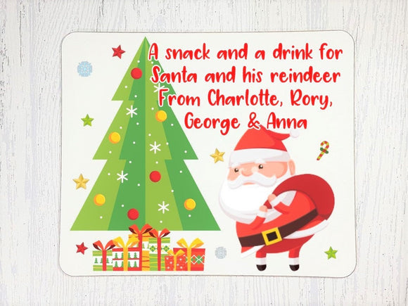 Christmas Santa treat board and mug