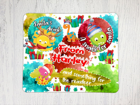 Personalised dinosaur treat board and mug