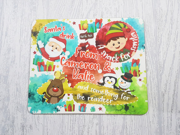 Personalised Santa treat board mug