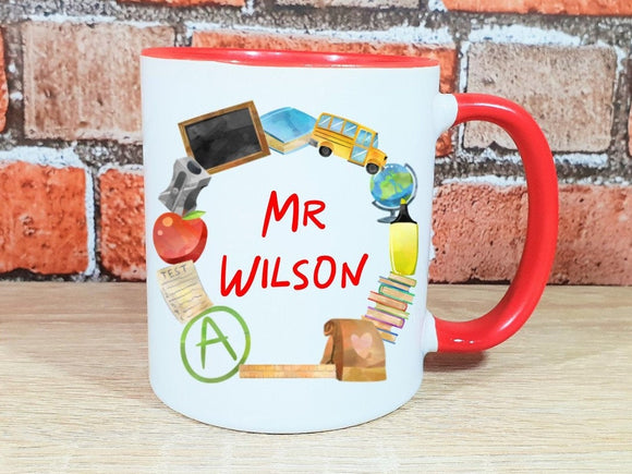 Teacher appreciation gift, personalised teaching assistant, lecturer, nursery mug