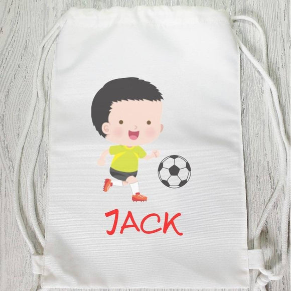 Football boy sports gym drawstring bag backpack