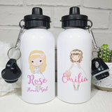 Personalised wedding day bridesmaid flower girl maid of honour water bottle
