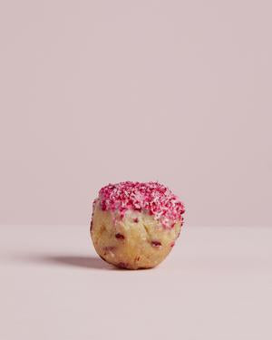 Raspberry Lamington Rad Ball (low sugar)
