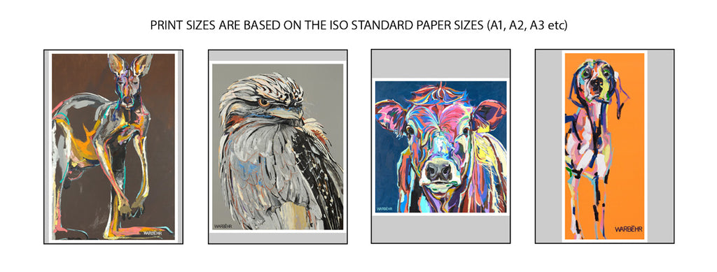 WarBëhr print sizes are based on the ISO standard paper sizes (Q0, A1, A2, A3, A4, A5)