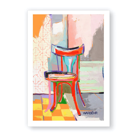 Red Chair, Fine Art Print
