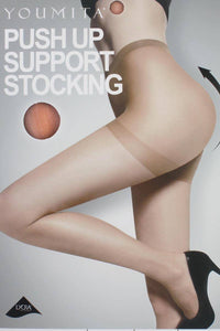 Ladies fashion extra compression on hips for natural butt lift push up stockings