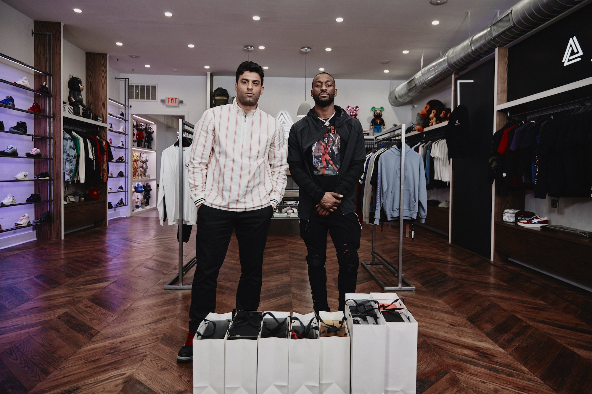 Complex and Kemba Walker go Sneaker Shopping at Social Status CLT