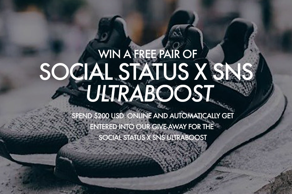 Social Status x SNS Adidas UltraBoost Giveaway