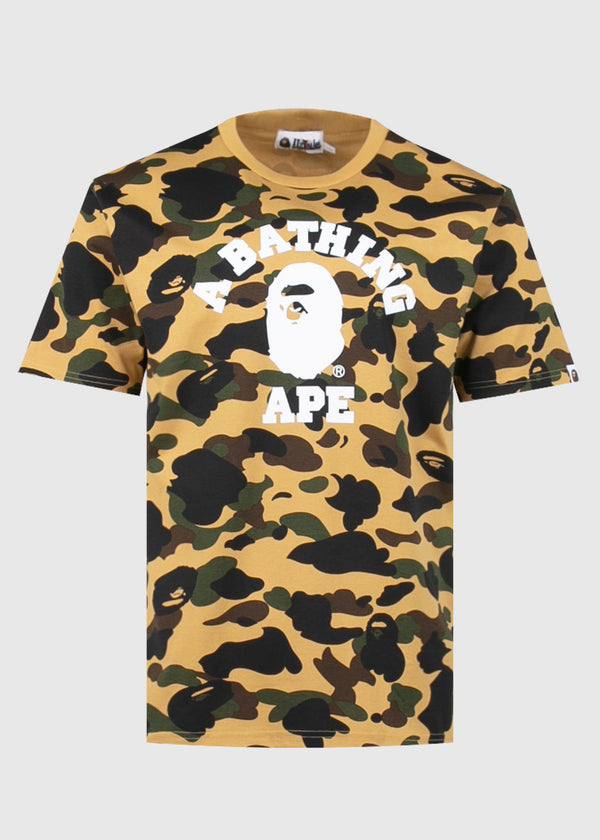 BAPE: 1ST CAMO COLLEGE TEE [YELLOW]