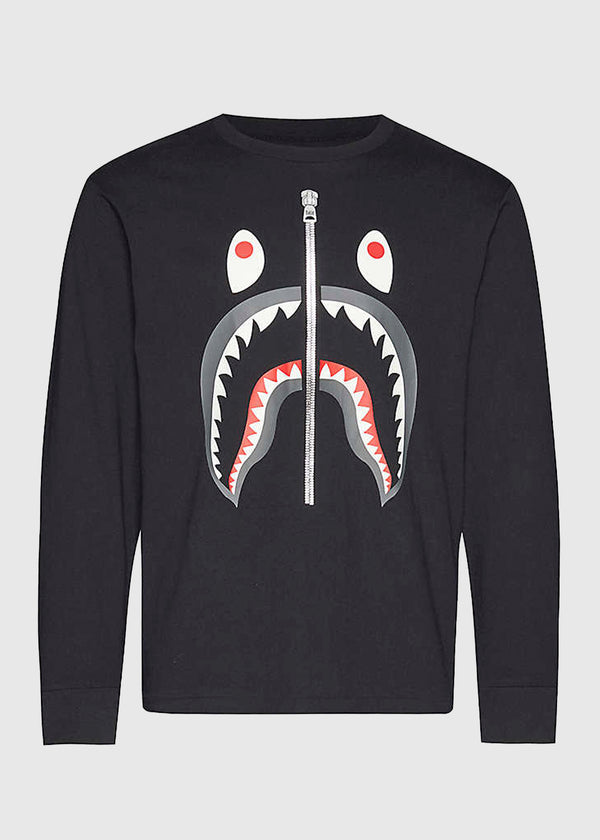 BAPE: SHARK LS TEE [BLACK]