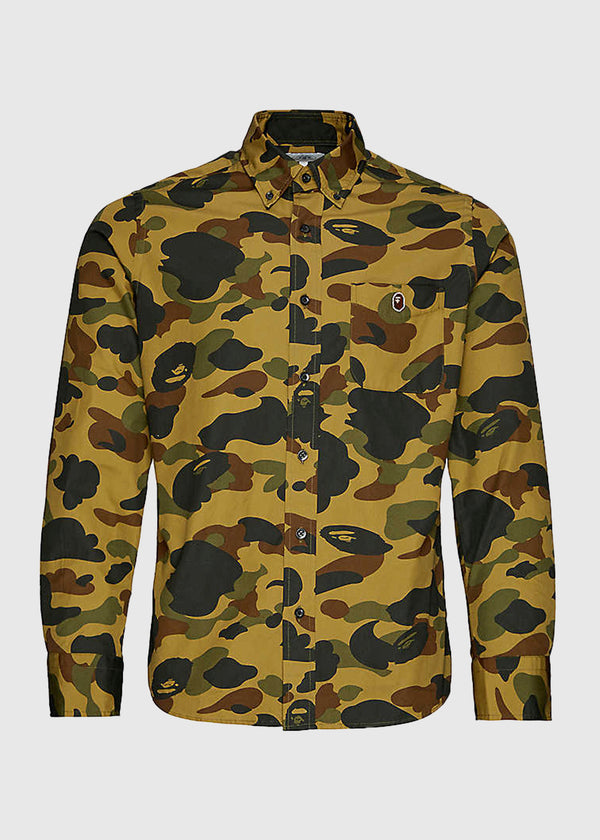 BAPE: CAMO BUTTON DOWN SHIRT [GREEN]