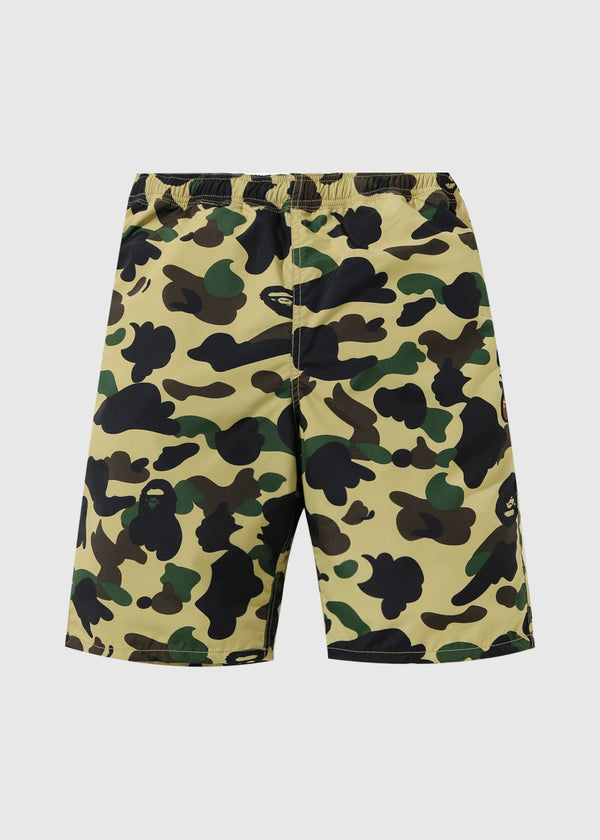 A BATHING APE: CAMO BEACH SHORTS [YELLOW]
