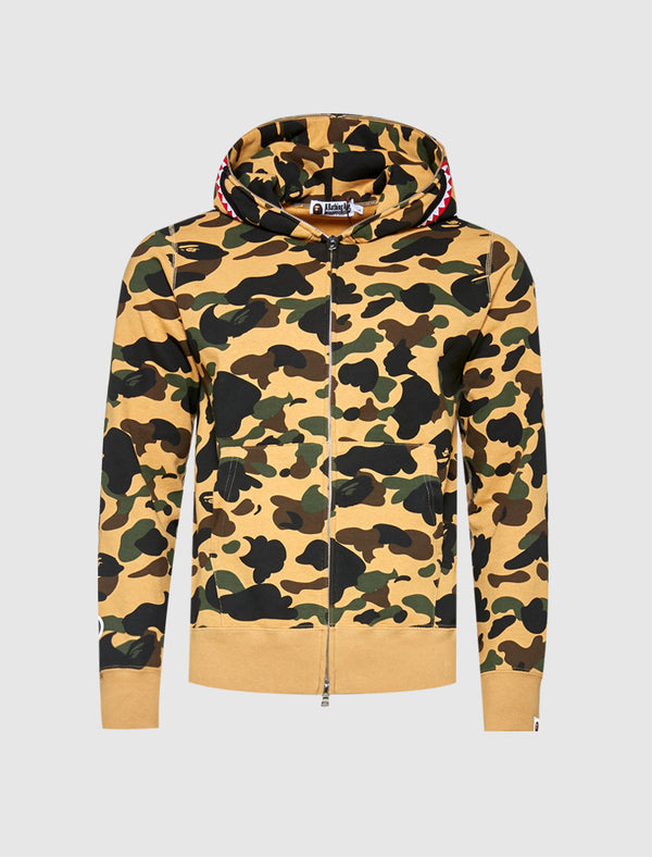 A BATHING APE: 1ST CAM SHRK HOODIE [YELLOW]