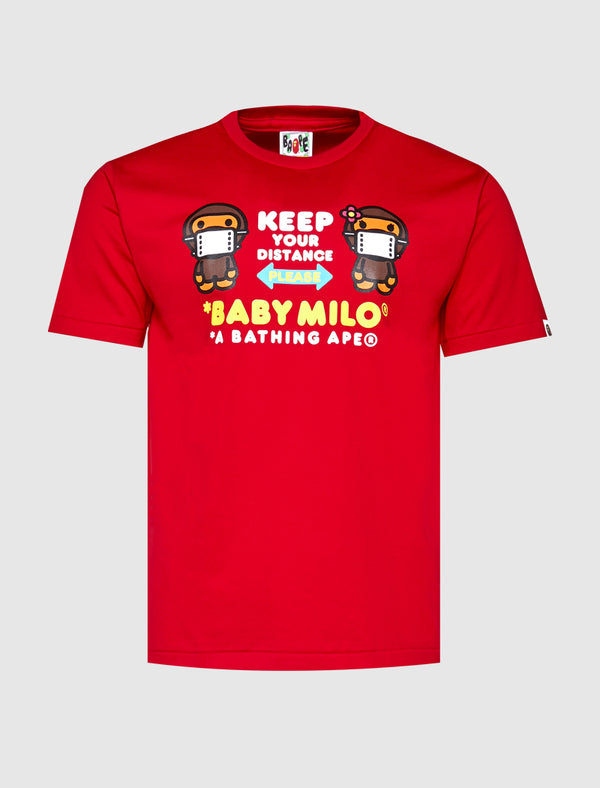 A BATHING APE: BABY MILO TEE [RED]